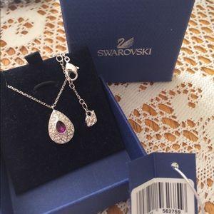 Swarovski Amethyst and Crystal Necklace